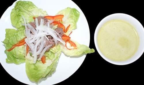 Salad bò trộn dầu giấm