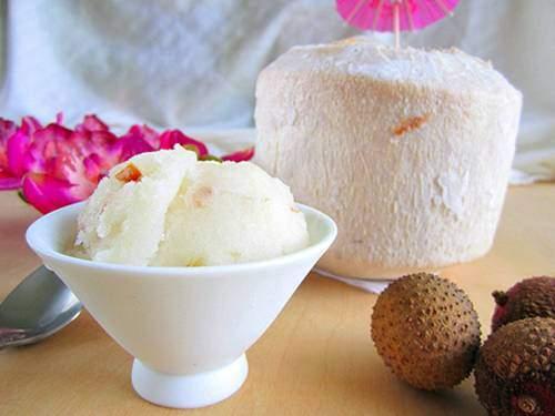 Món ăn vặt, cách làm kem dừa, món ngon mùa hè, món kem ngon
