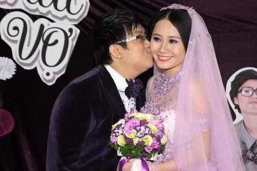 Danh hài, gia bảo, kết hôn, lễ cưới, đám cưới, nghệ sĩ, cháu nghệ sĩ quốc bảo, thanh hiền, nụ hôn, ngọt ngào