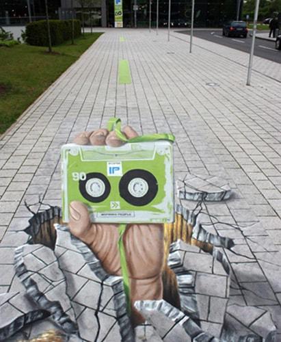tranh 3D, Đường phố, Tác phẩm nghệ thuật, Đức, Italy, cua so tinh yeu