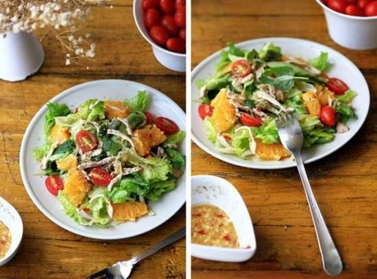 Salad gà ngon miện sạch ruột