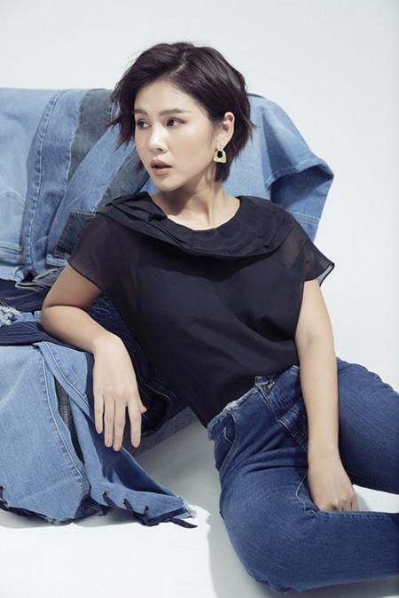 đẹp, MC Thu Hoài, phối đồ jeans, phong cách công sở
