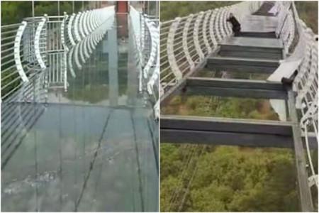 Du khách Trung Quốc gặp sự cố vì cầu kính bị gió thổi bay nhiều mảnhDu khách Trung Quốc gặp sự cố vì cầu kính bị gió thổi bay nhiều mảnh