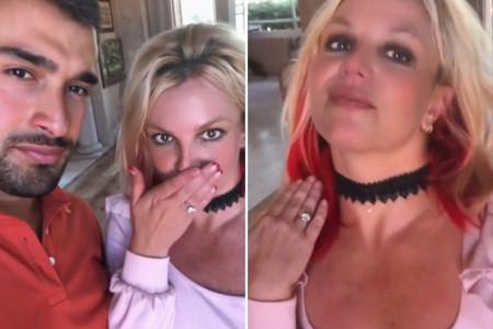 Bạn trai kém 13 tuổi cầu hôn Britney Spears bằng nhẫn kim cương 4 carat