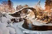 Nằm tại Scotland, cây cầu tựa như cổ tích có tên Carrbridge.