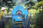 Theo chú thích của du khách người Mỹ, bức ảnh này ông chụp ở phía Bắc của Hà Nội.