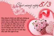 lời chúc 8-3. dành tặng mẹ, tặng vợ, người yêu, lời chúc ngọt ngào, quốc tế phụ nữ
