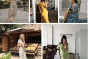 Mặc đồ đẹp, Xu hướng thời trang 2019, Thời trang thu 2019, Váy cổ chữ V, Váy hoa, Váy cài khuy, váy hai dây, cua so tinh yeu