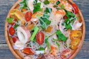 bún trộn chua cay kiểu thái, đổi bữa, bữa cực hấp dẫn, bún trộn chua cay, cua so tinh yeu
