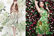 thời trang, phong cách, váy hoa, mù thu, dạo phố, sao việt