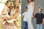 Kate Moss, Natalia Vodianova, Isabeli Fontana, Người mẫu và con, khoe con, khoảnh khắc ngọt ngào, tình cảm mẹ con