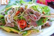 salad , thịt bò , tôm , mát , ngon miệng