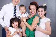 thái thùy linh, kết hôn lần hai, mẹ đơn thân, ngô cường, con chung, con riêng, nhí tài năng, thái an