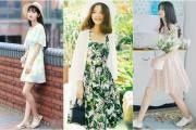 váy hoa, xu hướng thời trang , thời trang thu