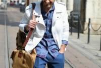 chất ,    cách mặc  ,   áo sơ mi ,    màu xanh dương  ,   đàn ông