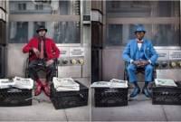 thời trang , anh chàng bán báo ,Steeve Mackaya