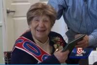 cụ bà 100 tuổi, tốt nghiệp, trung học, my, chuyện lạ, bằng cấp