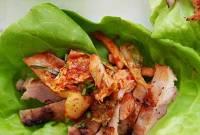 cách làm, gà nướng cuốn rau diếp, kim chi, cua so tinh yeu