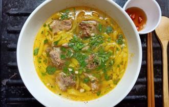 Món ngon mỗi ngày, bánh canh bột gạo, bánh canh sườn heo, cua so tinh yeu