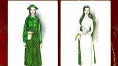 trang phục thi Miss Universe 2020, Miss Universe 2020, KHánh Vân Tô Thị, Thiếu nữ bên hoa huệ
