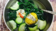 trứng vịt lộn, món ngon, quả bầu, canh bầu với trứng vịt lộn
