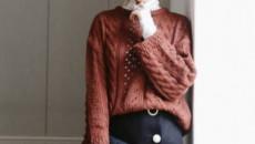 Bạn đã biết hết cách mặc áo len cổ rộng