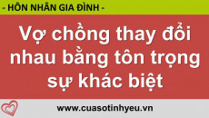 Vợ chồng thay đổi nhau bằng tôn trọng sự khác biệt - Nguyễn Thị Mùi
