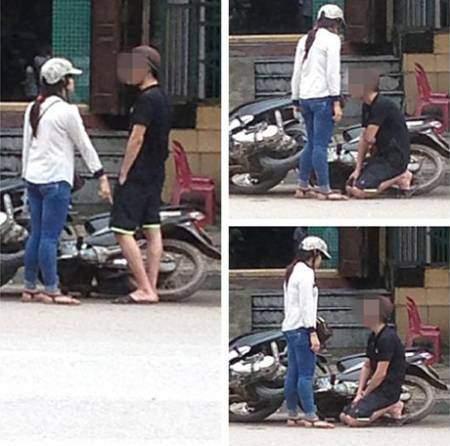 Hình ảnh chàng trai quỳ gối trên phố đông người từng gây xôn xao dư luận