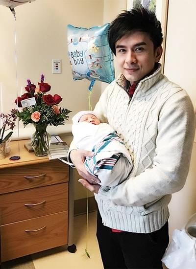Đan Trường, hạnh phúc, đón con trai đầu lòng, tại Mỹ, thủy tiên, sinh thường