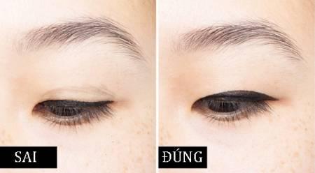kẻ viền mắt eyeliner, vẽ mắt trang điểm, trang điểm mắt, mẹo trang điểm, cua so tinh yeu