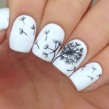 mẫu móng tay đẹp, họa tiết hoa trên móng tay, kiểu móng tay trang trí hoa, cua so tinh yeu