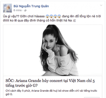 Ariana Grande, Ariana Grande In VietNam, Dangerous Woman World Tour, cua so tinh yeu
