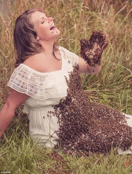 bà bầu, chụp ảnh cùng ong, cua so tinh yeu