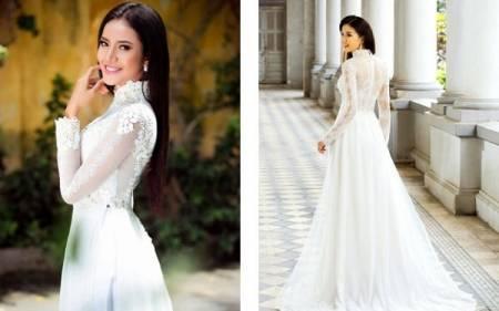 áo dài cưới, cô dâu, cưới, thời trang, cua so tinh yeu