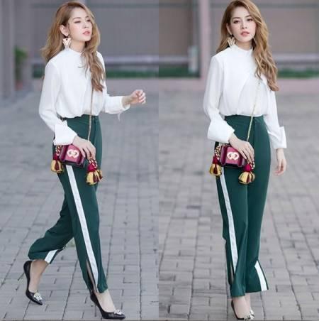 thời trang, quần xẻ tà, xu hướng thời trang, cua so tinh yeu