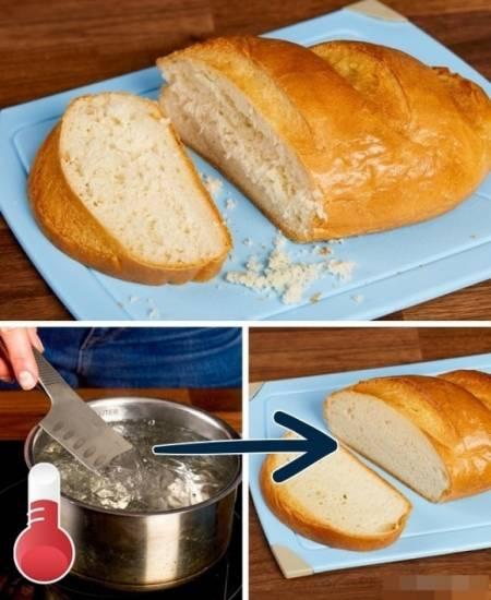 mẹo vặt hay, mẹo vặt, ghi điểm với mẹ chồng, cắt bánh mì, luộc trứng, cua so tinh yeu