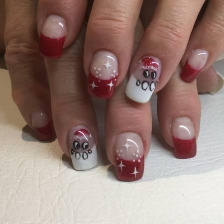 nail noel, nail xmas, nail giáng sinh, giáng sinh, làm đẹp giáng sinh, cua so tinh yeu