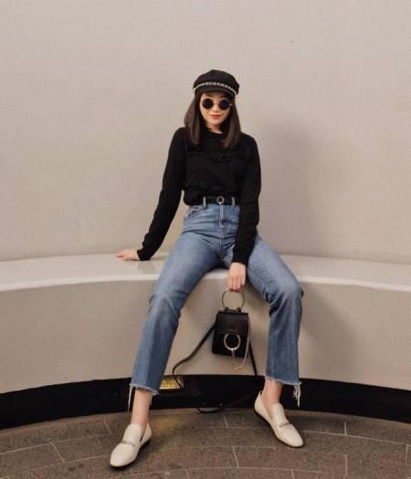 quần jean, Quần jean ngắn, phối đồ cho nàng nấm lùn, nàng nấm lùn, cô nàng nấm lùn, cô nàng chân ngắn, thời trang nấm lùn, bí quyết mặc đẹp, mix đồ đẹp , cách mix đồ đẹp, cua so tinh yeu