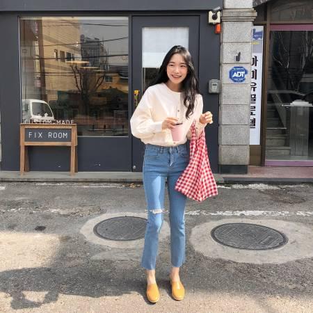 Quần jeans, áo blouse, Mốt14, Mặc đẹp, Mix đồ áo điệu, cua so tinh yeu