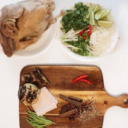 công thức phở gà, hướng dẫn làm phở gà, nấu phở gà thế nào, nước dùng phở gà nấu thế nào, cua so tinh yeu