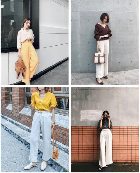 Đẹp, Thời trang, Xu hướng 2018, Mặc đồ đẹp, Thời trang công sở, Áo blouse, Áo sơ mi, Chân váy midi, cua so tinh yeu