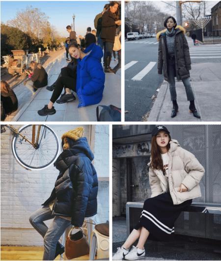 Đẹp, Thời trang, Xu hướng 2018, Mặc đồ đẹp, Kẻ caro, Bộ suit, Váy denim, Giày sneakers, Áo phao, cua so tinh yeu