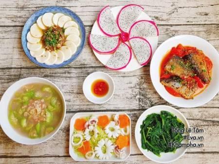 thực đơn, món ngon, cá, mực, đậu, cửa sổ tình yêu