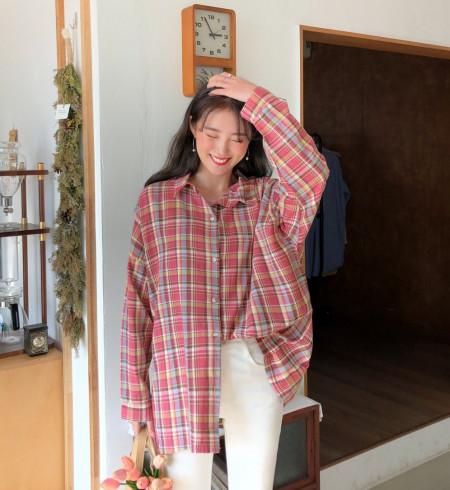 Mặc sơ mi, nhàm chán, 4 cách mix, gái Hàn, cua so tinh yeu