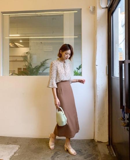 Mặc chân váy dài, cộng thêm tuổi, trẻ trung, thời trang nữ, cua so tinh yeu