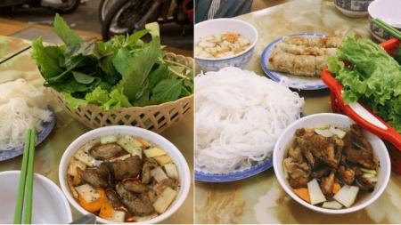 Tiệm bún chả, Hà Nội, thực khách, cửa sổ tình yêu.