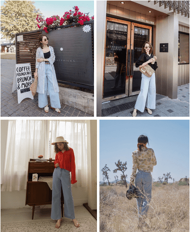 Xu hướng thời trang 2019, Thời trang thu 2019, Quần jeans, Mặc đẹp, Quần jeans xanh nhạt, cua so tinh yeu
