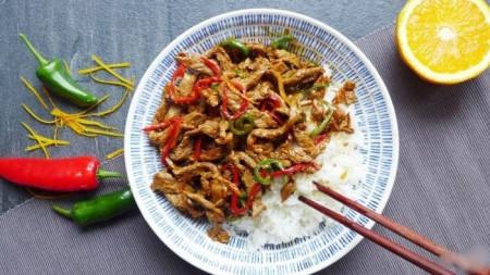 nấu ăn, ăn ngon, thức ăn, món ăn, bò xào sốt cam, cua so tinh yeu