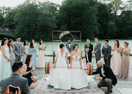 đám cưới, đồng tính, lễ cưới, cử tạ, đồng tính nữ, cộng đồng LGBT, hạnh phúc, cua so tinh yeu