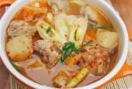 Sườn, củ cải, kim chi, món ngon từ kim chi, canh kim chi nấu sườn, món canh ngon